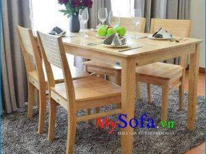 bộ bàn ghế ăn 4 chỗ gỗ đẹp