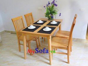 Bộ bàn ghế ăn nhỏ đẹp kiểu dáng hiện đại