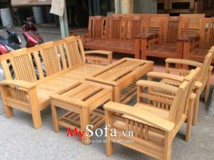 bàn ghế sofa gỗ hiện đại