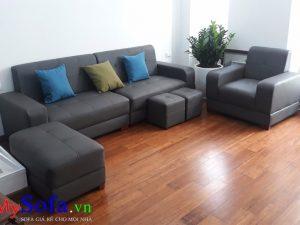 sofa da đẹp sang trọng, ghế sofa da cao cấp, sofa phòng khách đẹp