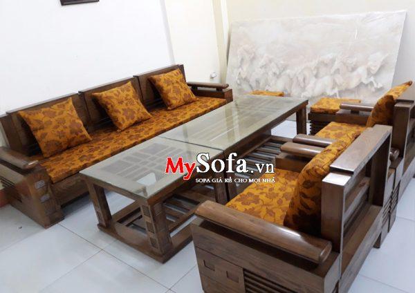 Sofa gỗ đẹp sang trọng