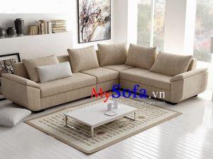 sofa nỉ đẹp kê phòng khách hiện đại