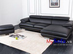 sofa da phòng khách đẹp sang trọng