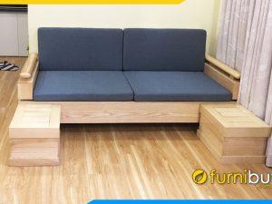 ghế sofa văng gỗ sồi đẹp cho phòng khách hiện đại