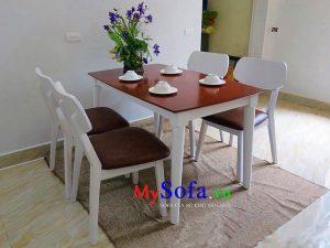 bộ bàn ghế ăn 4 chỗ đẹp giá rẻ